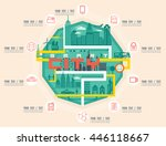 infographic smart city concept... | Shutterstock .eps vector #446118667