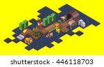 board game concept  isometric... | Shutterstock .eps vector #446118703