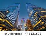 upward view of new york... | Shutterstock . vector #446121673