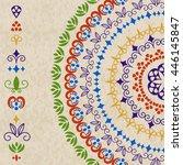 vector ethnic design elements... | Shutterstock .eps vector #446145847