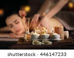 spa composition on beautiful...   Shutterstock . vector #446147233