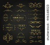 ornate frames elements gold... | Shutterstock .eps vector #446168023