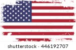flag of united states in the... | Shutterstock .eps vector #446192707