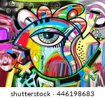 original abstraction... | Shutterstock .eps vector #446198683