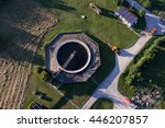 aerial view of sewage treatment ... | Shutterstock . vector #446207857