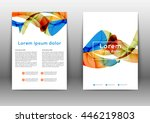 color brochure design template. ... | Shutterstock .eps vector #446219803