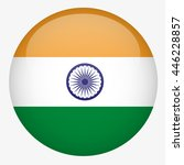 india flag button | Shutterstock .eps vector #446228857