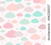 childish seamless pattern with... | Shutterstock . vector #446230537