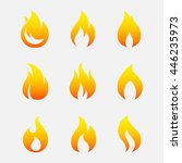 fire icons vector set isolated... | Shutterstock .eps vector #446235973