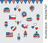 fourth of july vector icons | Shutterstock .eps vector #446246767