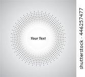 background white circle round... | Shutterstock .eps vector #446257477