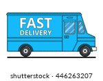 concept of the delivery service.... | Shutterstock .eps vector #446263207