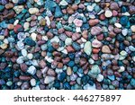 Small Glossy Color Pebbles On...