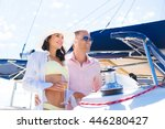 young  attractive and rich... | Shutterstock . vector #446280427