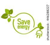 save energy icon symbol  | Shutterstock .eps vector #446288227