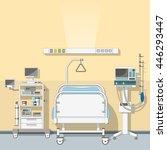 illustration an intensive care... | Shutterstock .eps vector #446293447