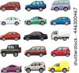 cartoon passenger car lorry and ... | Shutterstock .eps vector #446300467