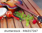 Arch Top Guitar  Red Rose And...