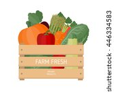 vector illustration of fresh... | Shutterstock .eps vector #446334583