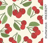 fresh cherry hand drawn... | Shutterstock .eps vector #446338297