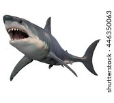 Great White Shark Isolated 3d...