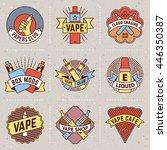 vape logotypes color set 1.... | Shutterstock .eps vector #446350387