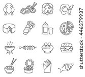 Food Linear Icon Set.