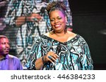 Small photo of LVIV, UKRAINE - JUNE 26: Dianne Reeves (American jazz singer) performed at the jazz festival Alfa Jazz Fest on June 26, 2016 in Lviv, Ukraine
