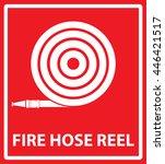 fire hose reel | Shutterstock .eps vector #446421517