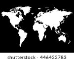 world map  europe  asia  north... | Shutterstock .eps vector #446422783