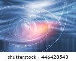graphical digital technology... | Shutterstock . vector #446428543