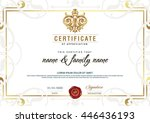 certificate to be elegant and... | Shutterstock .eps vector #446436193