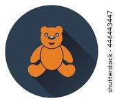 teddy bear icon. flat color...