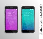 realistic smart phones mock up... | Shutterstock .eps vector #446444827