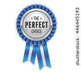 silver perfect choice rosette ... | Shutterstock .eps vector #446445193