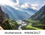 georgian military highway ... | Shutterstock . vector #446462617