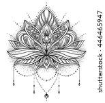 vector ornamental lotus flower  ... | Shutterstock .eps vector #446465947
