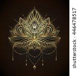 vector ornamental lotus flower  ... | Shutterstock .eps vector #446478517