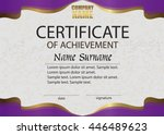 certificate of achievement.... | Shutterstock .eps vector #446489623