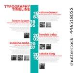 vector infographic typographic... | Shutterstock .eps vector #446518033