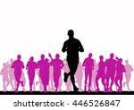 people running. sport... | Shutterstock . vector #446526847