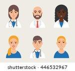 medical community staff doctors ...   Shutterstock .eps vector #446532967