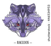 zentangle stylized doodle... | Shutterstock .eps vector #446534953