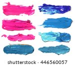 set of abstract acrylic brush...