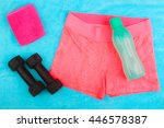 gym gear  gym clothes and... | Shutterstock . vector #446578387