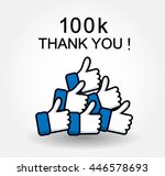 thank you followers background. ... | Shutterstock .eps vector #446578693