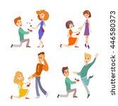 set of cartoon couples of... | Shutterstock .eps vector #446580373