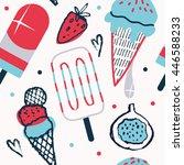 summer background patterns in... | Shutterstock .eps vector #446588233