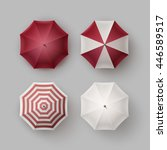 vector set of white red vinous... | Shutterstock .eps vector #446589517