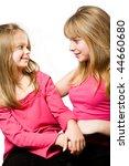 two little sisters portrait... | Shutterstock . vector #44660680
